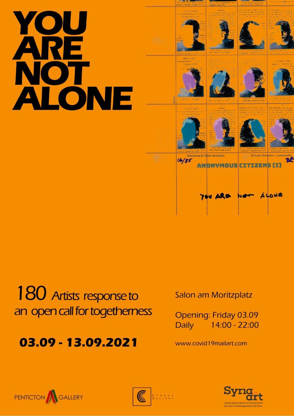 You Are Not Alone – 180 Artistes Pour Un Appel Ouvert Al'Unité